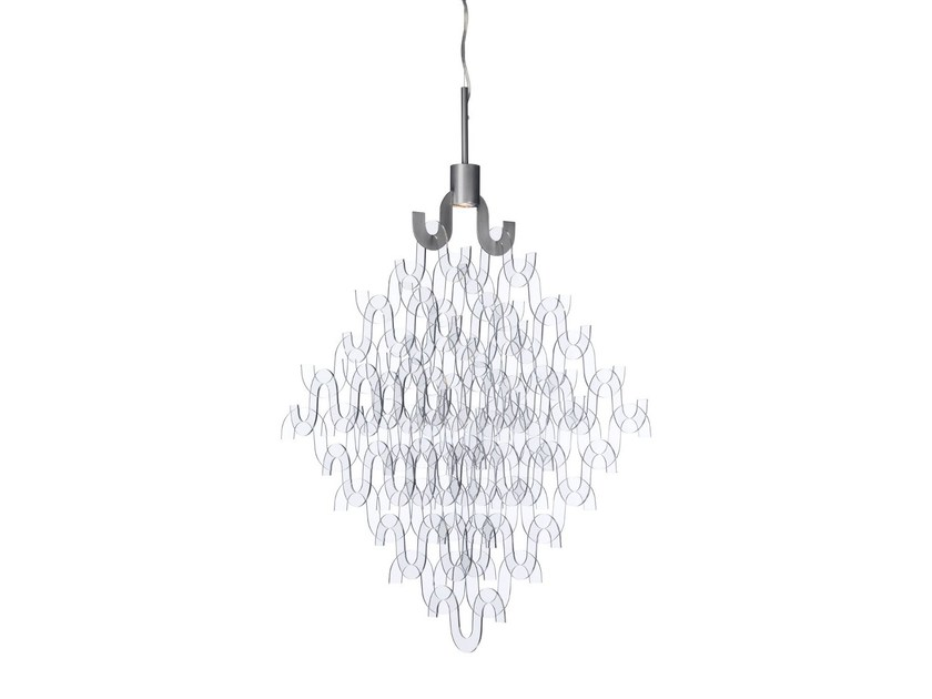 Acrylic chandelier U FORM SMALL | Acrylic chandelier - Örsjö Belysning