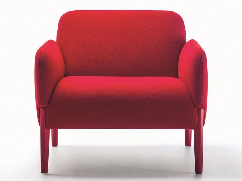 Armchair with armrests JOIN | Armchair by La Cividina