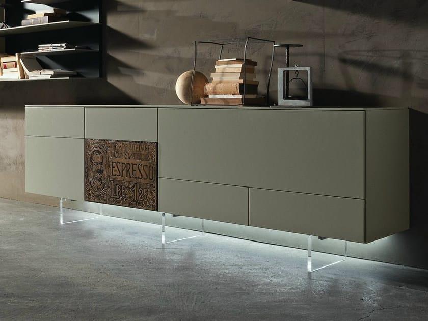 Madia componibile in stile moderno inclinart madia for Presotto mobili