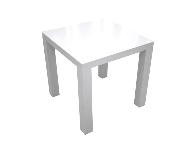 Square powder coated aluminium side table STOCKHOLM | Side table - Sérénité Luxury Monaco