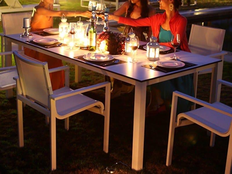 Tavolo da giardino rettangolare in alluminio stockholm - Tavolo stockholm ...
