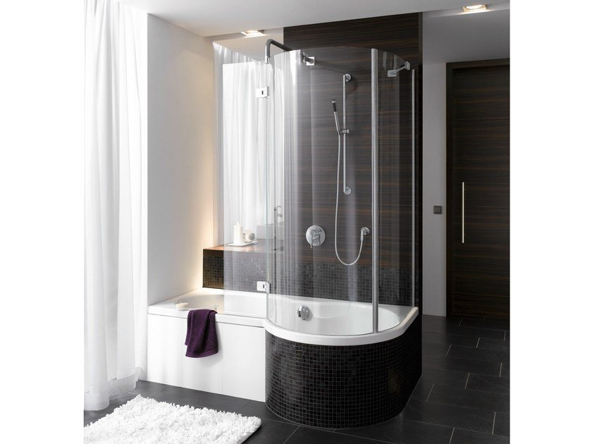 Enamelled steel bathtub with shower BETTECORA RONDA - Bette