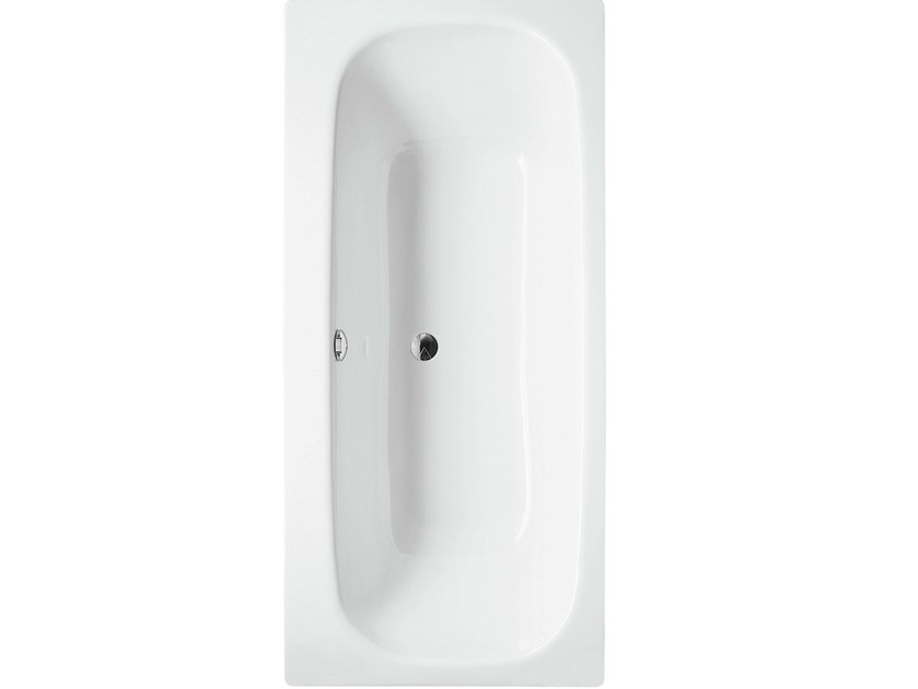 Rectangular enamelled steel bathtub BETTEDUETT - Bette