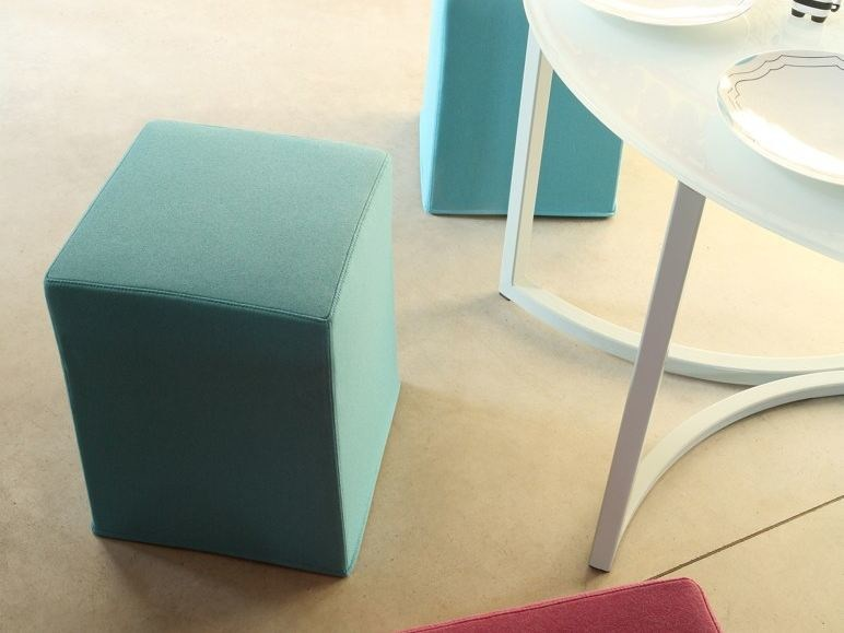 Upholstered fabric pouf with removable lining COMO | Pouf - COLLI CASA