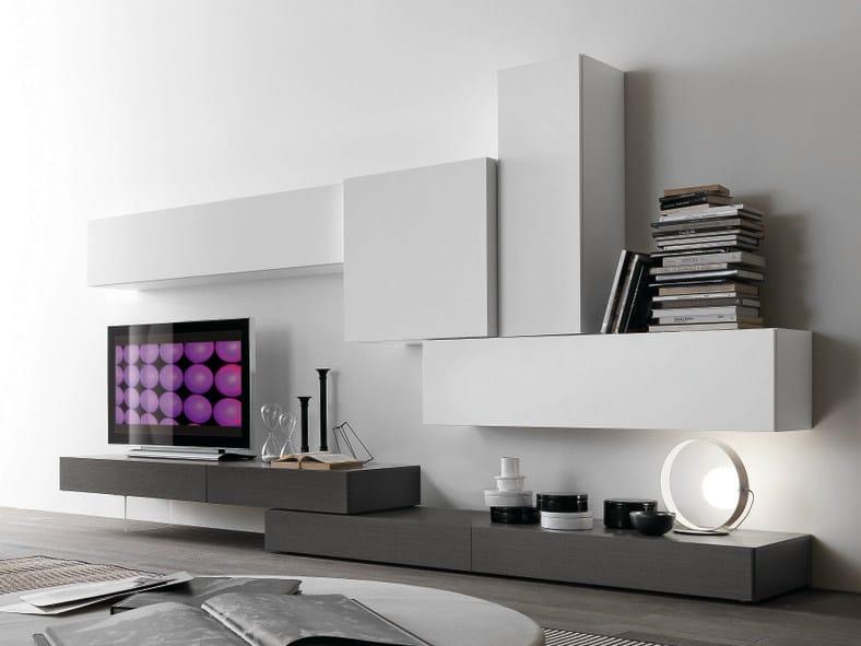 Parete attrezzata componibile con porta tv cf38 collezione for Presotto mobili prezzi