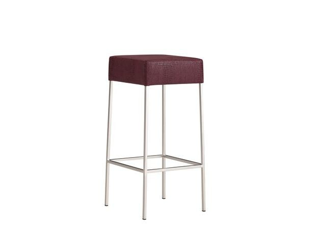 Upholstered leather stool COMO | Stool - COLLI CASA