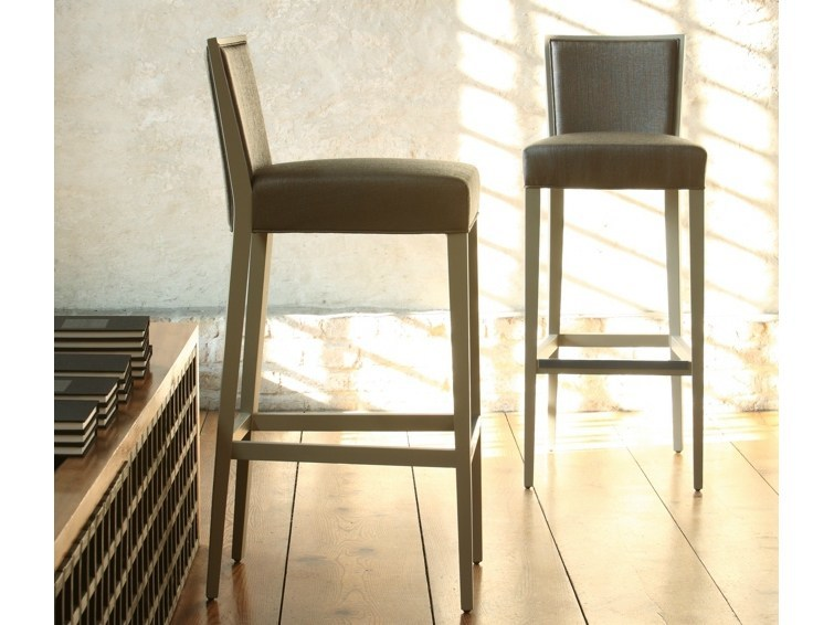 Upholstered fabric counter stool SIENA | Counter stool - COLLI CASA