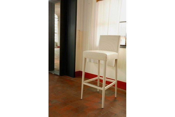 Upholstered fabric counter stool TAORMINA | Counter stool - COLLI CASA