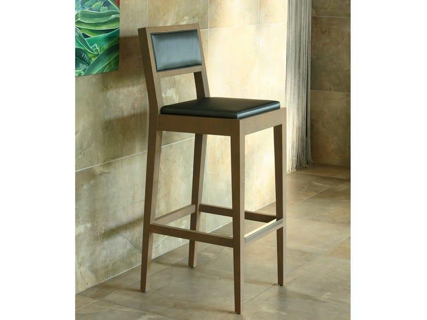 Upholstered wooden counter stool AMALFI | Counter stool - COLLI CASA
