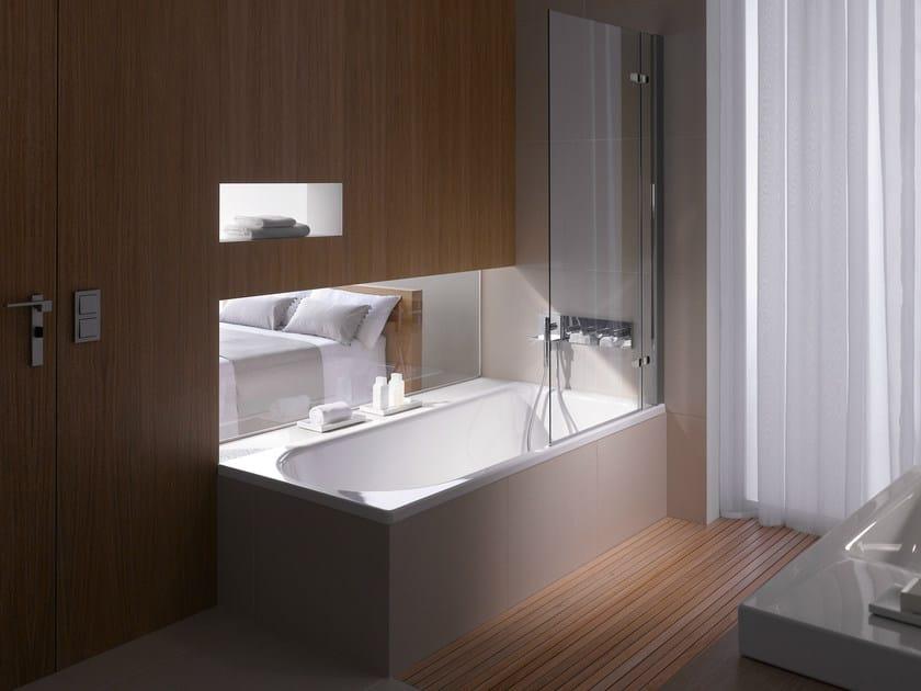 Vasca da bagno in acciaio smaltato con doccia BETTEOCEAN by Bette design Schmiddem Design