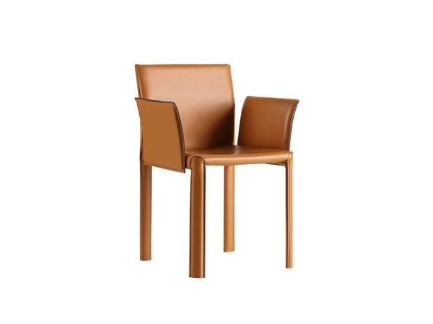 Leather easy chair with armrests LERICI | Easy chair - COLLI CASA