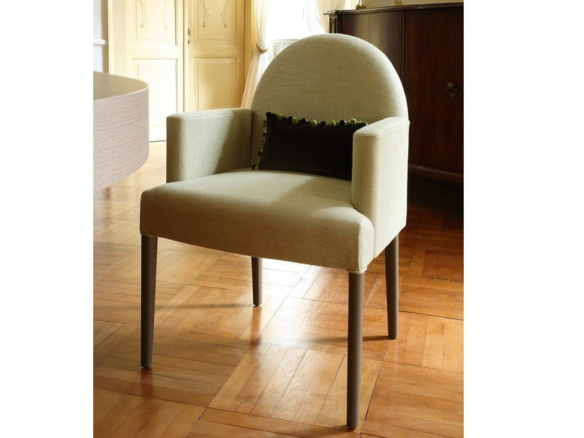 Upholstered fabric easy chair with armrests ISCHIA | Easy chair - COLLI CASA
