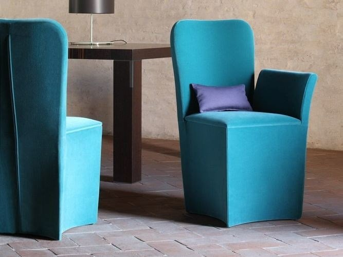 Upholstered fabric easy chair VERONA by COLLI CASA