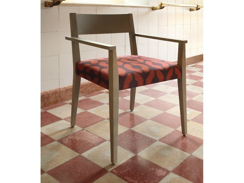 Wooden easy chair with armrests RAPALLO | Easy chair - COLLI CASA