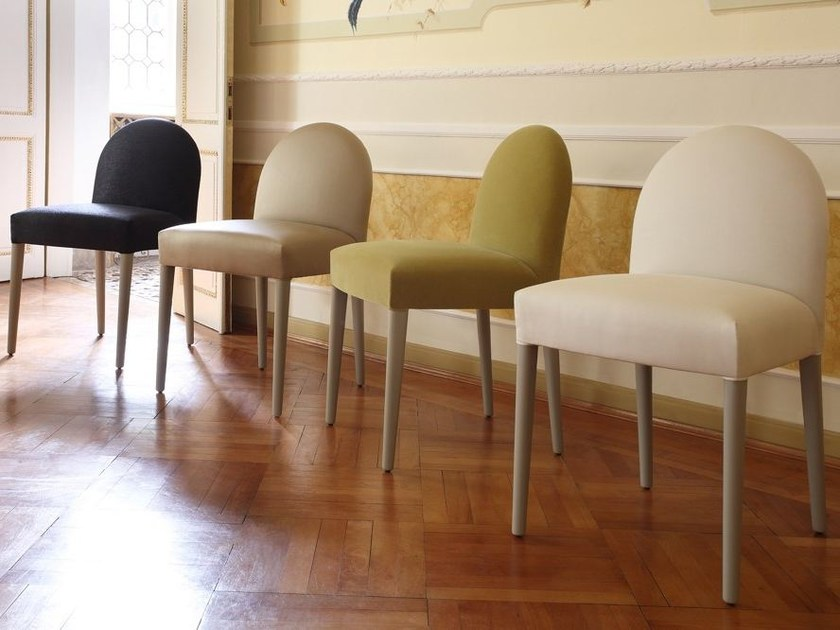 Upholstered leather chair ISCHIA   Chair - COLLI CASA