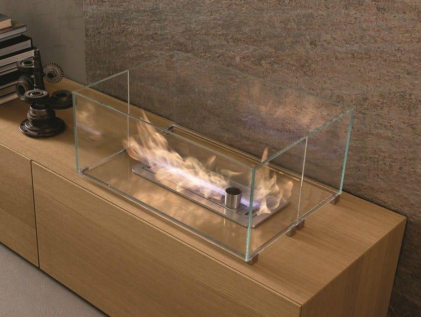 Open built-in bioethanol fireplace I-MODULART | Bioethanol fireplace by Presotto