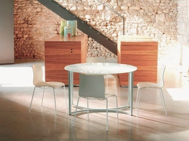 Lacquered round table MILANO | Round table - COLLI CASA
