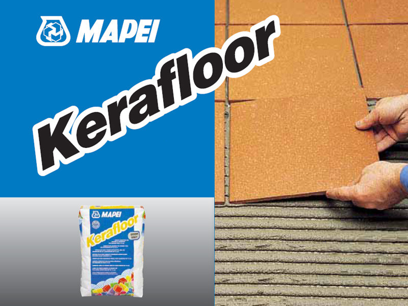 Cement-based glue KERAFLOOR - MAPEI