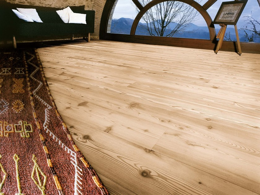 Knotted larch antiqued oiled parquet LARCH PLANKS | Larch parquet - CADORIN GROUP