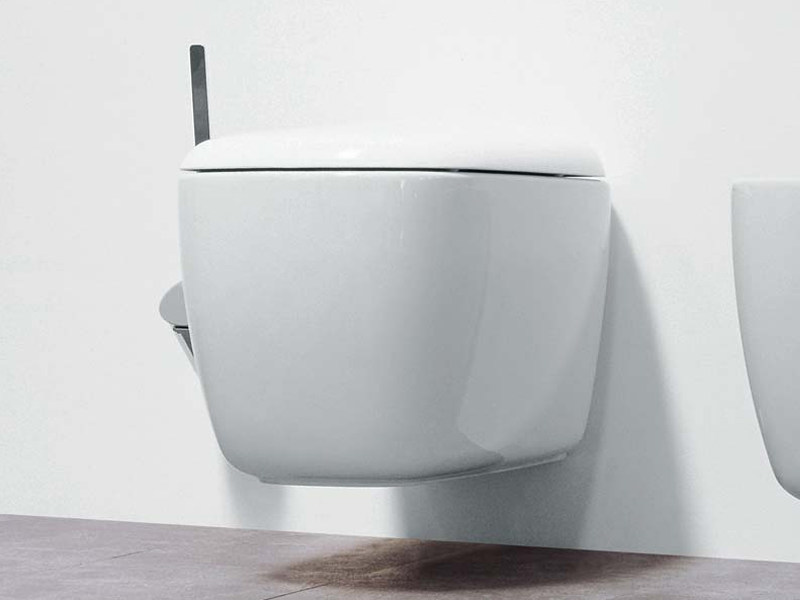 Wall-hung ceramic toilet MONO' | Wall-hung toilet - CERAMICA FLAMINIA