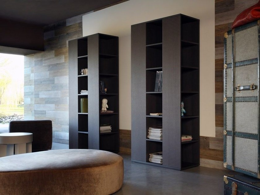 Freestanding wooden bookcase VOLTERRA | Bookcase by COLLI CASA