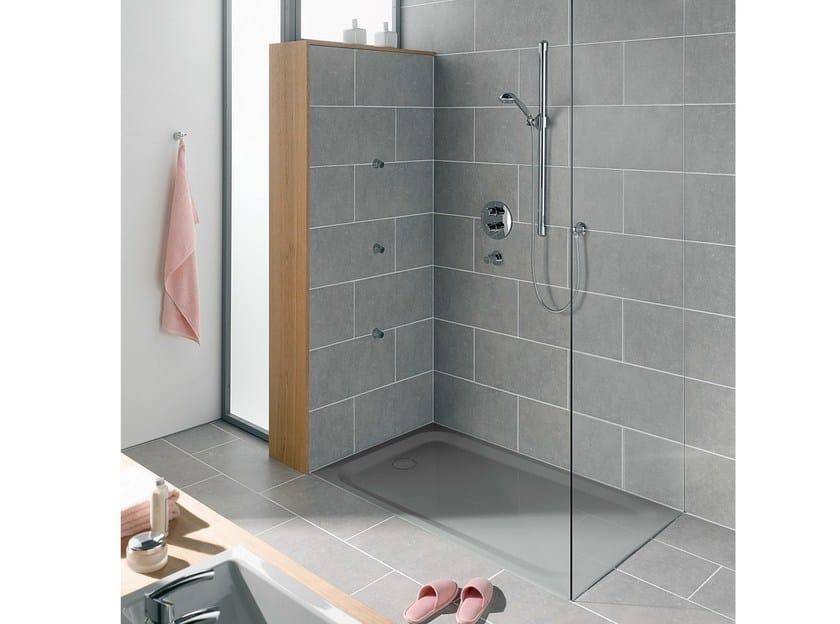Piatto doccia filo pavimento rettangolare in acciaio for Doccia rettangolare