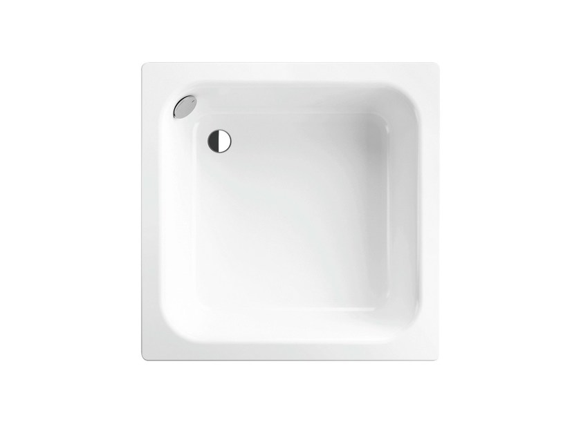 Built-in enamelled steel shower tray TIEF | Square shower tray - Bette