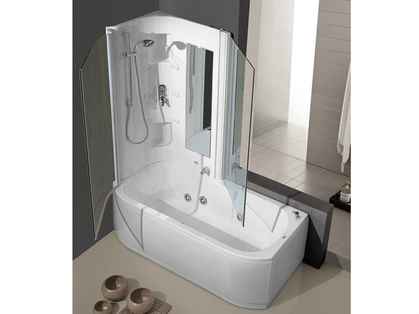 Whirlpool bathtub with shower DUO BOX - GRUPPO GEROMIN