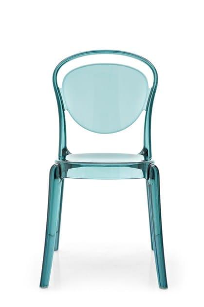 sedia impilabile in policarbonato parisienne calligaris. Black Bedroom Furniture Sets. Home Design Ideas