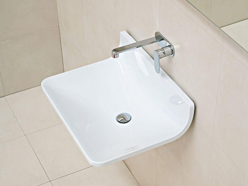 Wall-mounted ceramic washbasin PLATE | Wall-mounted washbasin - CERAMICA FLAMINIA