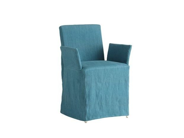 Solid-color fabric chair cover TAORMINA | Fabric chair cover - COLLI CASA