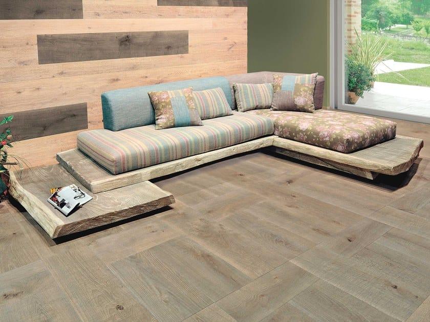 Corner sofa EL CAREGOON DE QUERCIA | English oak sofa by CADORIN GROUP