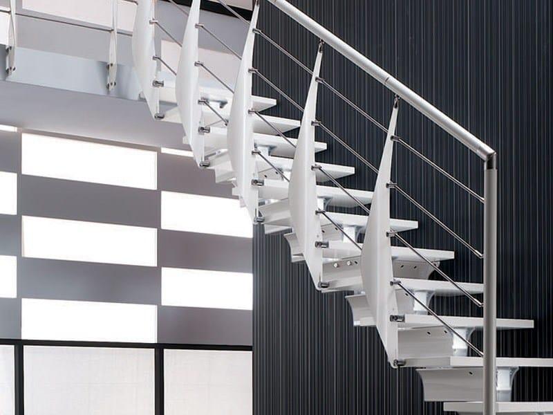 Parapetto in acciaio per scale vela prima by rintal design for Rintal scale prezzi
