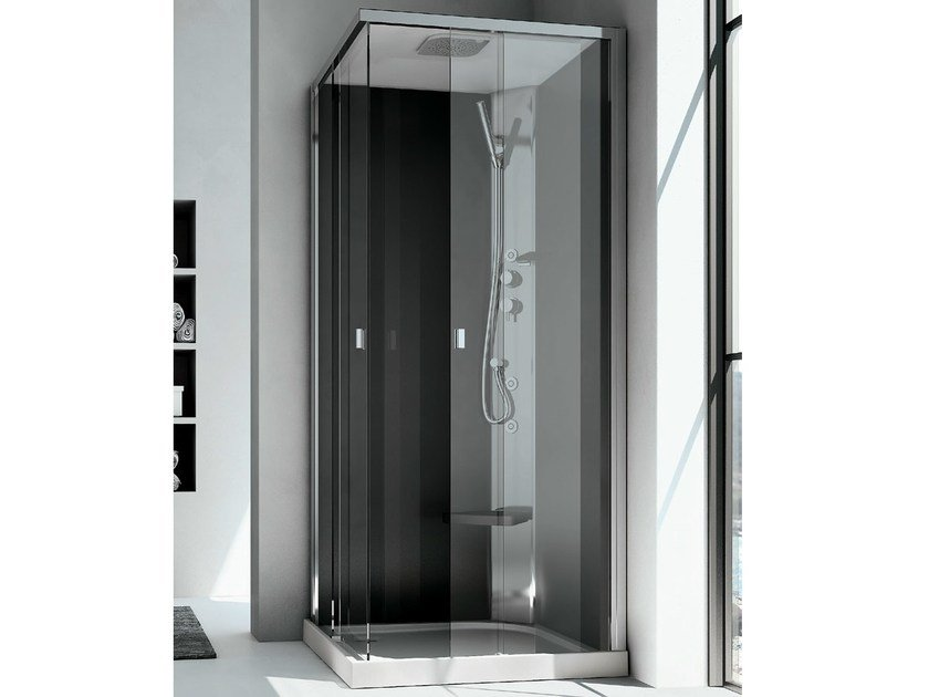 Corner multifunction Hydromassage crystal shower cabin SOUND IDRO - GRUPPO GEROMIN