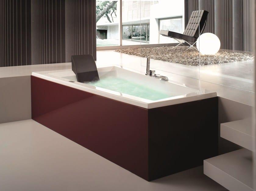 Vasca da bagno idromassaggio in legno era plus 180 x 120 70 gruppo geromin - Piastrelle bagno nere ...