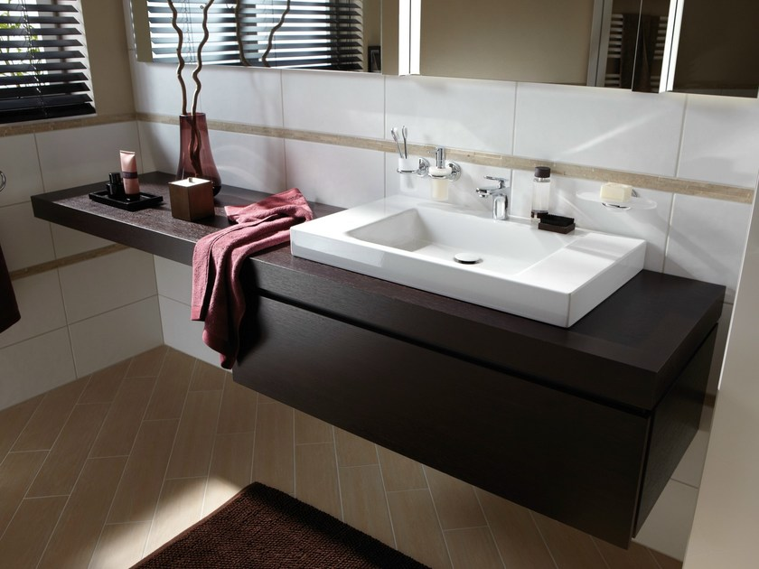 Single wooden vanity unit BETTEROOM UNTERBAUMODUL by Bette