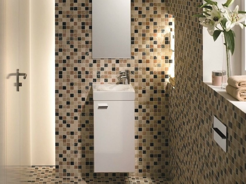 H ngender waschtischunterschrank mit t ren betteroom for Design waschtischunterschrank