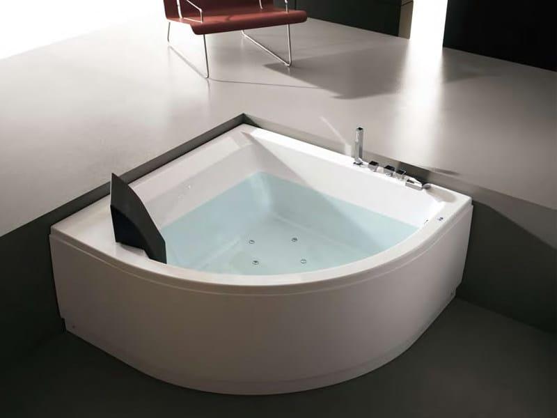 Vasca da bagno angolare idromassaggio in legno era plus - Bagno con vasca angolare ...