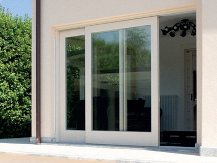 Porta finestra scorrevole complanare by bg legno Finestra grande scorrevole