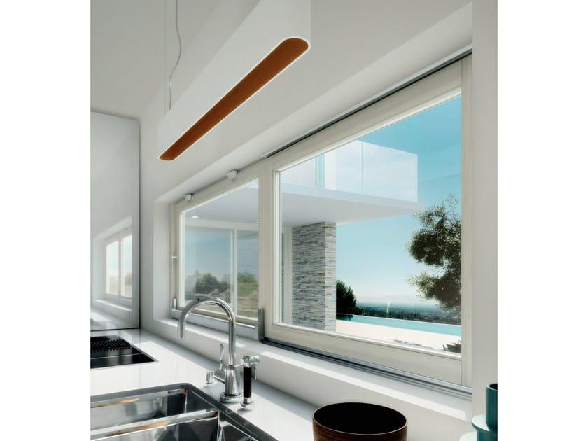 Finestra scorrevole complanare in legno finestra - Finestre a nastro ...