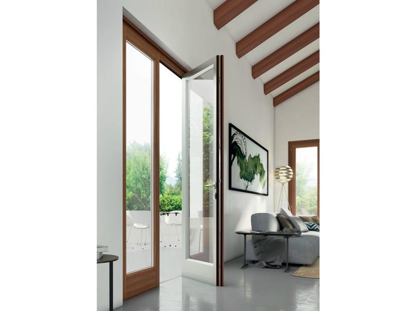 Porta finestra a battente in alluminio e legno eterna alaska bg legno - Porta finestra legno ...