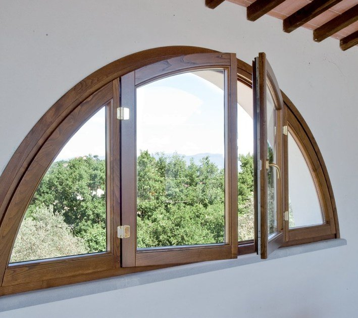 Finestra ad arco in legno alaska finestra bg legno - Finestre ad arco prezzi ...
