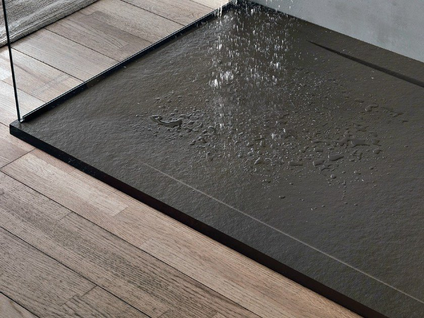 Anti-slip rectangular resin shower tray FORMA COVER - GRUPPO GEROMIN