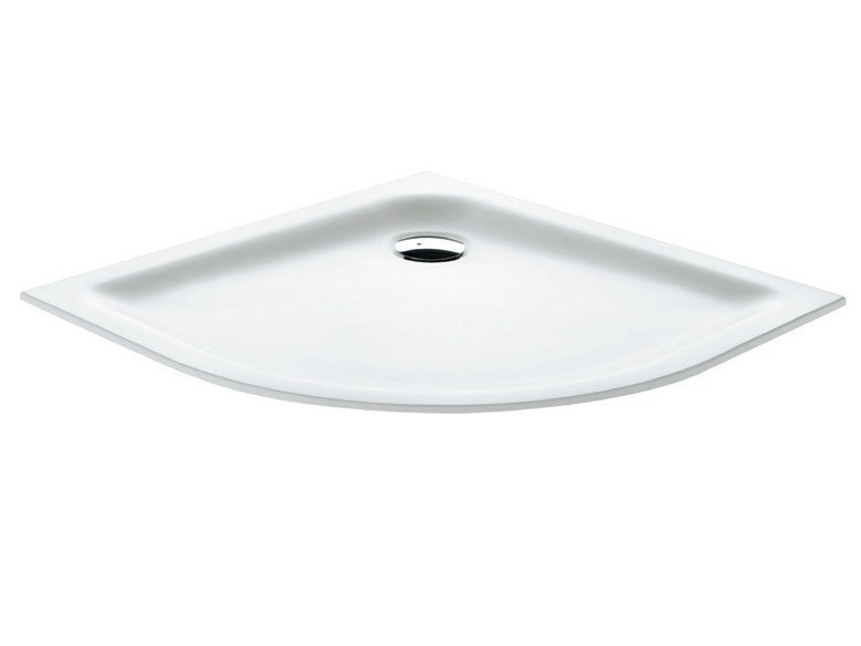 Corner flush fitting Corian® shower tray Shower tray by Gruppo Geromin