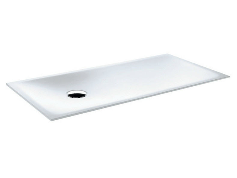 Flush fitting rectangular Corian® shower tray Flush fitting shower tray - GRUPPO GEROMIN