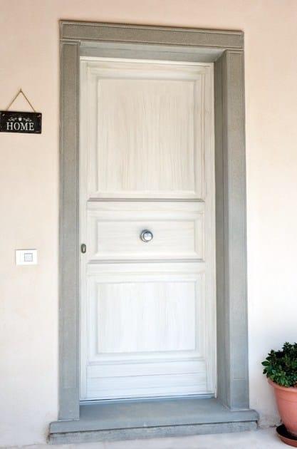 Porta d 39 ingresso in legno per esterno firenze porta d for Piani porta garage gratuiti