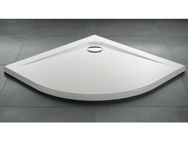 Corner acrylic shower tray ZEROQUATTRO®   Corner shower tray - GRUPPO GEROMIN