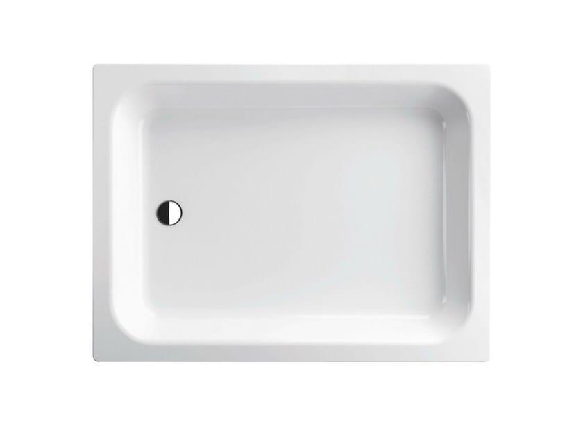 Rectangular enamelled steel shower tray FLACH | Rectangular shower tray - Bette