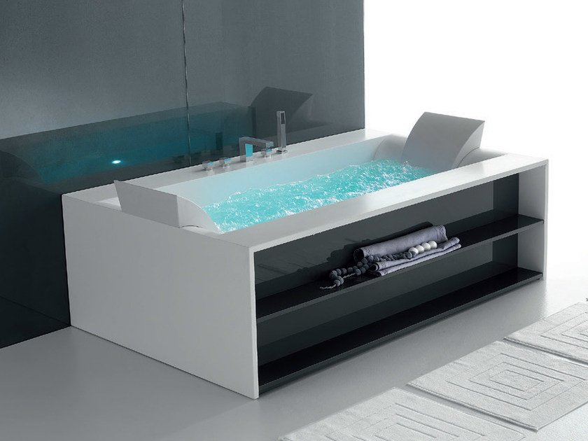 Vasca da bagno idromassaggio in corian sensual 190 gruppo geromin - Vasca da bagno seduta ...