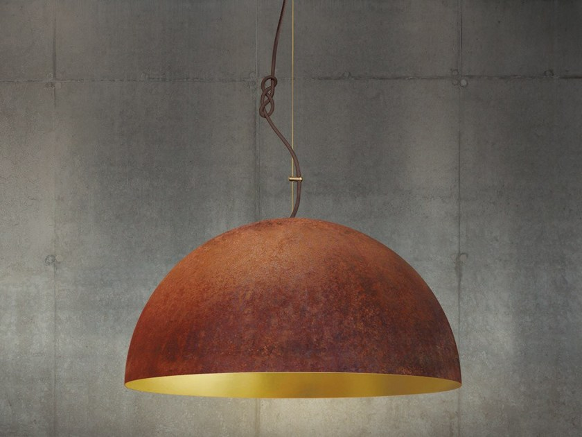 Handmade gold leaf pendant lamp THE QUEEN LARGE - Mammalampa